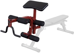 Body-Solid (Best Fitness) Leg Developer & Preacher Curl Uitbreiding - Rood