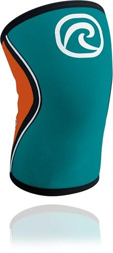 Rehband RX Kniebrace - 5 mm - Turquoise/Oranje