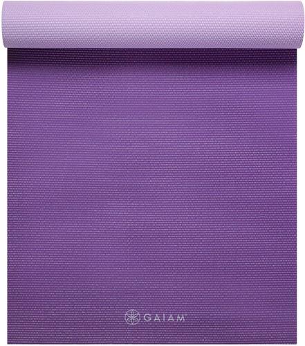 Gaiam 2-Color Yoga Mat - 6 mm - Plum Jam