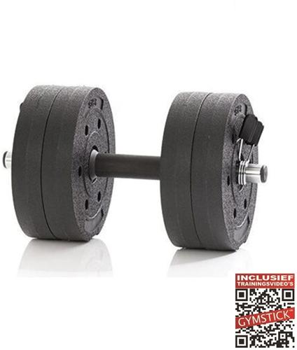 Gymstick Active Verstelbare Dumbbell Set - Vinyl - 10 kg - Met Online Trainingsvideo's