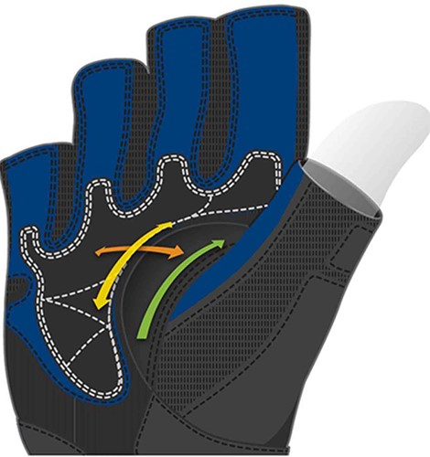 Harbinger BioFlex WristWrap - Black/Blue-2