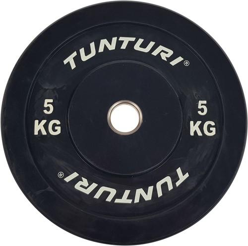 Tunturi Bumper Plate - Halterschijf - Zwart - 5 kg