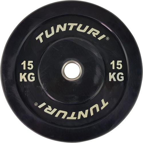 Tunturi Bumper Plate - Halterschijf - Zwart - 15 kg