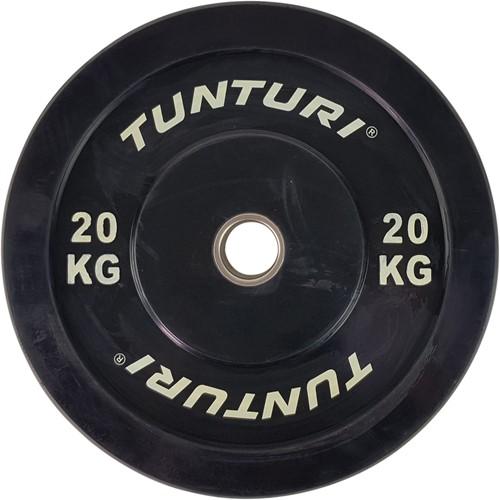 Tunturi Bumper Plate - Halterschijf - Zwart - 20 kg
