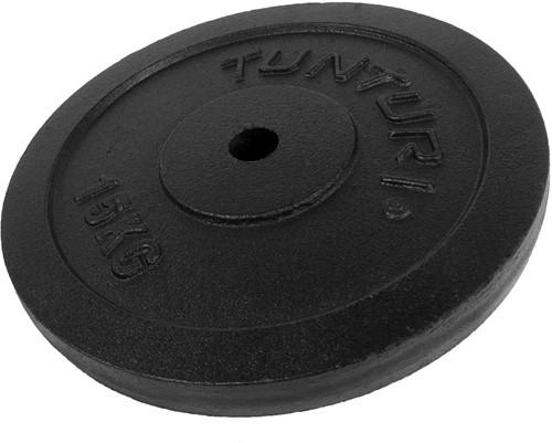 Tunturi Gietijzeren Halterschijf - 30 mm - 15 kg