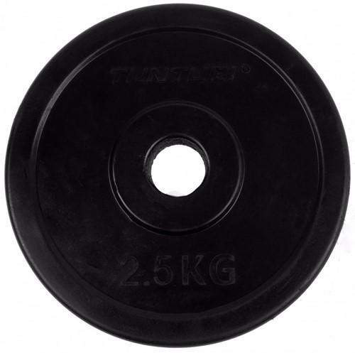 Tunturi Rubberen Halterschijf - 30 mm - 2 x 2,5 kg-2