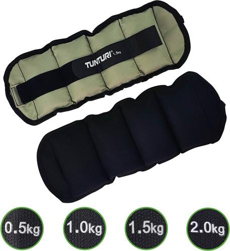 Tunturi Enkel/Pols gewichten 2 x 1.5 kg