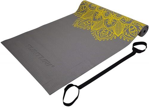 Tunturi PVC Yogamat - Fitnessmat - 182 x 61 x 0,4 cm - Antraciet