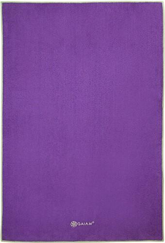 Gaiam Hand Towel Yogahanddoek - Grape / Celery