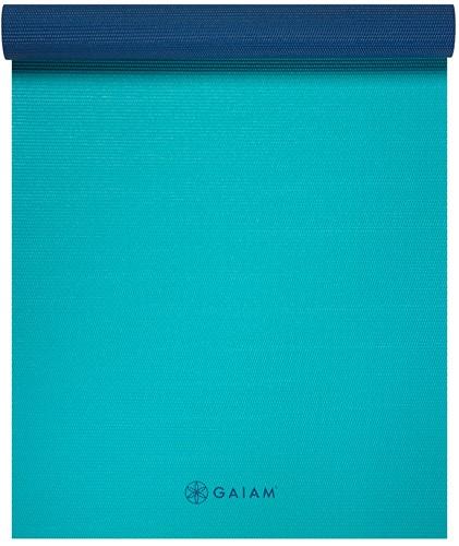 Gaiam 2-Color Yoga Mat - 4 mm - Open Sea