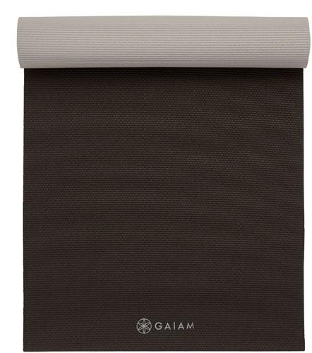 Gaiam 2-Color Yoga Mat - 6 mm - Granite Storm