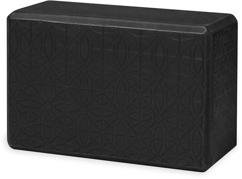 Gaiam Yoga Blok - Embossed Black