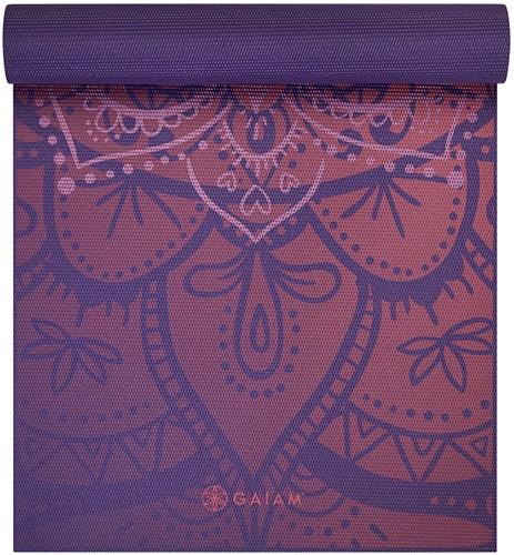 Gaiam Premium Metallic Yoga Mat - 6 mm - Athenian Rose