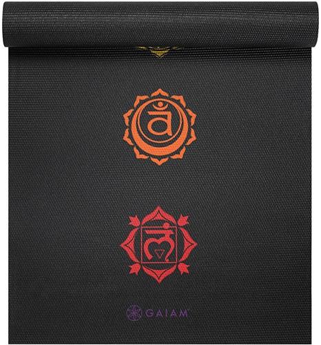 Gaiam Yoga Mat - 6 mm - Black Chakra