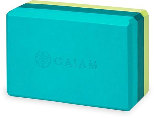 Gaiam Yoga Blok - Teal Tonal Tri-Color