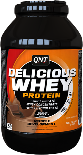 QNT Delicious Whey Protein - 2200g - Belgian Chocolate