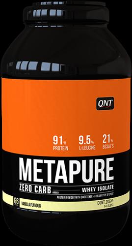 QNT Koolhydraatarm Zero Carb Metapure - 2000g - Vanilla