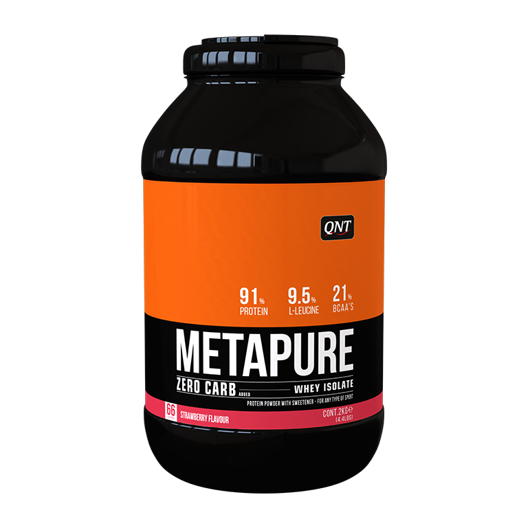 QNT Koolhydraatarm Zero Carb Metapure - 2000g - Strawberry