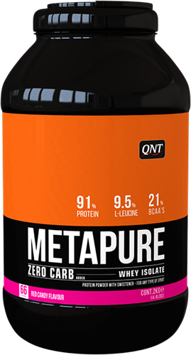 QNT Koolhydraatarm Zero Carb Metapure - 2000g - Red Candy