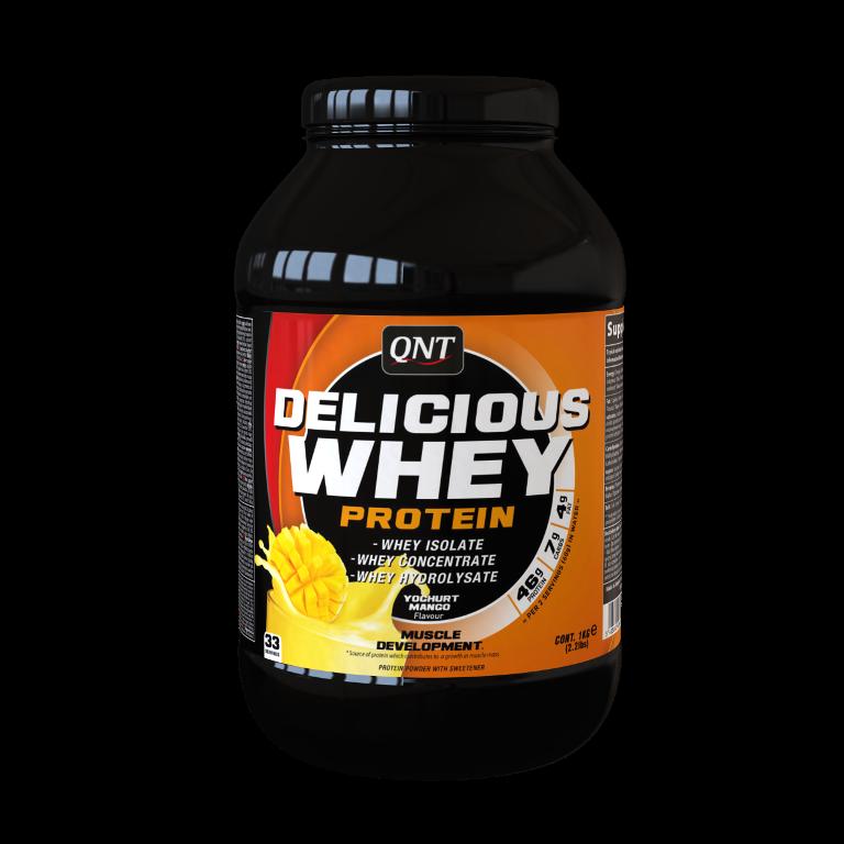 QNT Delicious Whey Protein - 2200g - Yoghurt Mango