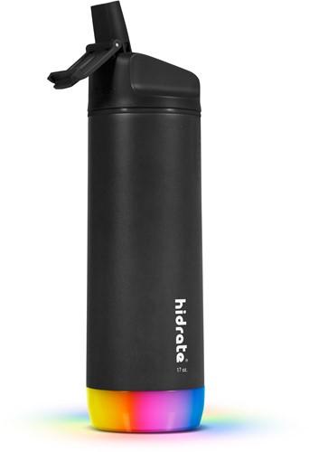 Hidrate Spark Steel Smart Waterfles - 500 ml - Straw - Black