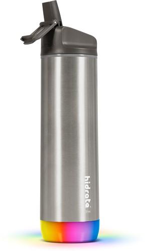 Hidrate Spark Steel Smart Waterfles - 620 ml - Straw - Brushed Stainless Steel