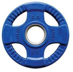 Body-Solid Gekleurde Olympische Rubber Halterschijf - Blauw - 2,5 kg
