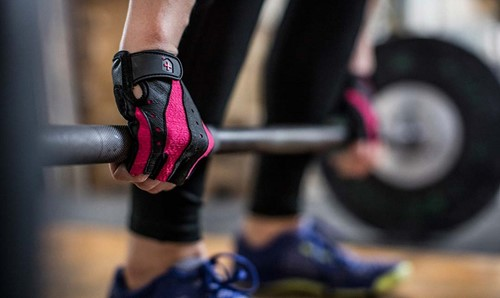 Harbinger womens pro wash & dry 2 fitness handschoenen deadlift