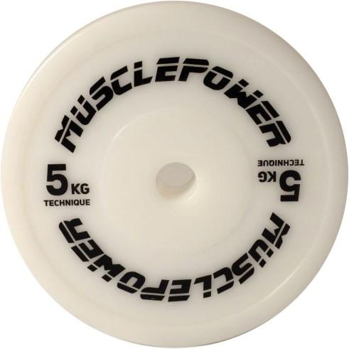 Muscle Power Olympische Techniek Plate Halterschijf - 50 mm - 5 kg