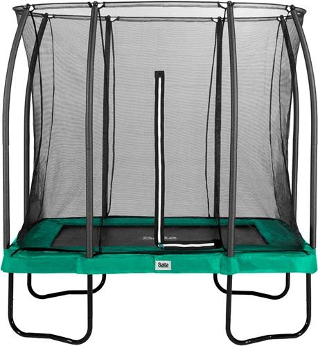 Salta Comfort Edition Trampoline met Veiligheidsnet - 153 x 214 cm - Groen