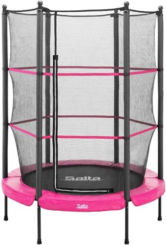 Salta Junior Trampoline met Veiligheidsnet - 140 cm - Roze