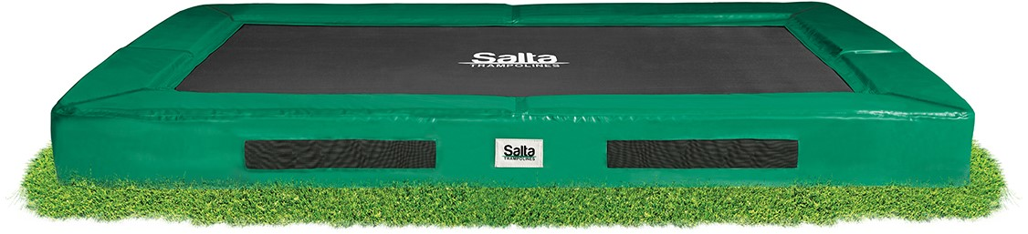 Salta Excellent Ground Trampoline - 153 x 214 cm - Groen