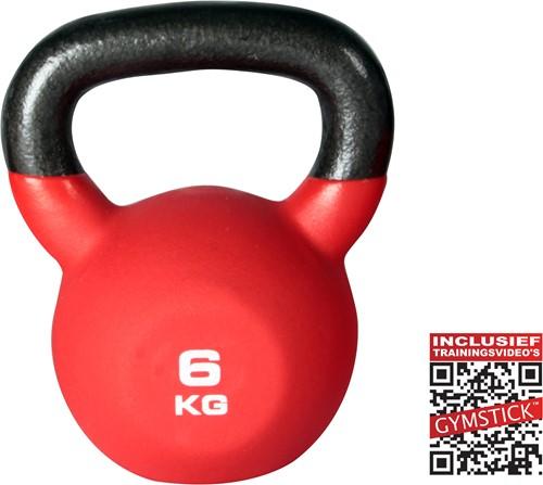 Kettlebell Pro 6 Kg Neopreen Met Trainingsvideo
