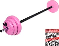Gymstick 20 kg pump set met trainingsvideo's - roze