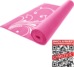 Gymstick Fitness Mat Roze  - Met trainingsvideo's