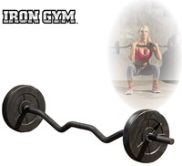 Iron Gym 23 kg verstelbare curl stang set - 25 mm