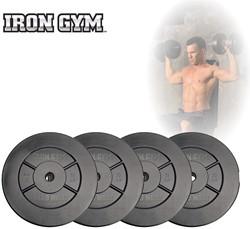 Iron Gym 20kg Plate Set, 4 x 5kg - 25mm - Verpakking beschadigd
