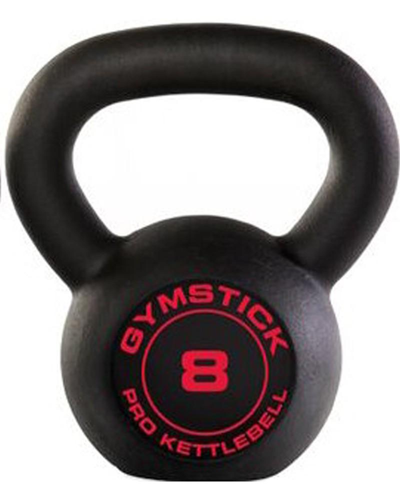 Gymstick Pro Kettlebell - Zwart - Met Online Trainingsvideo's - 8 kg