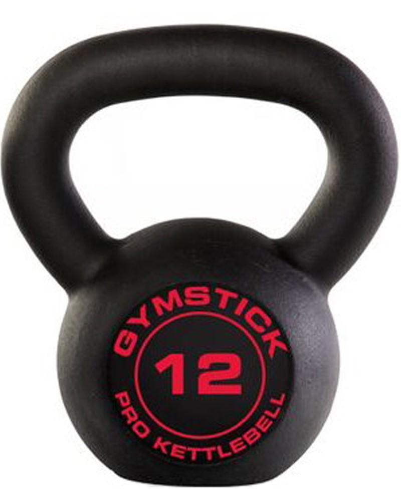 Gymstick Pro Kettlebell - Zwart - Met Online Trainingsvideo's - 12kg