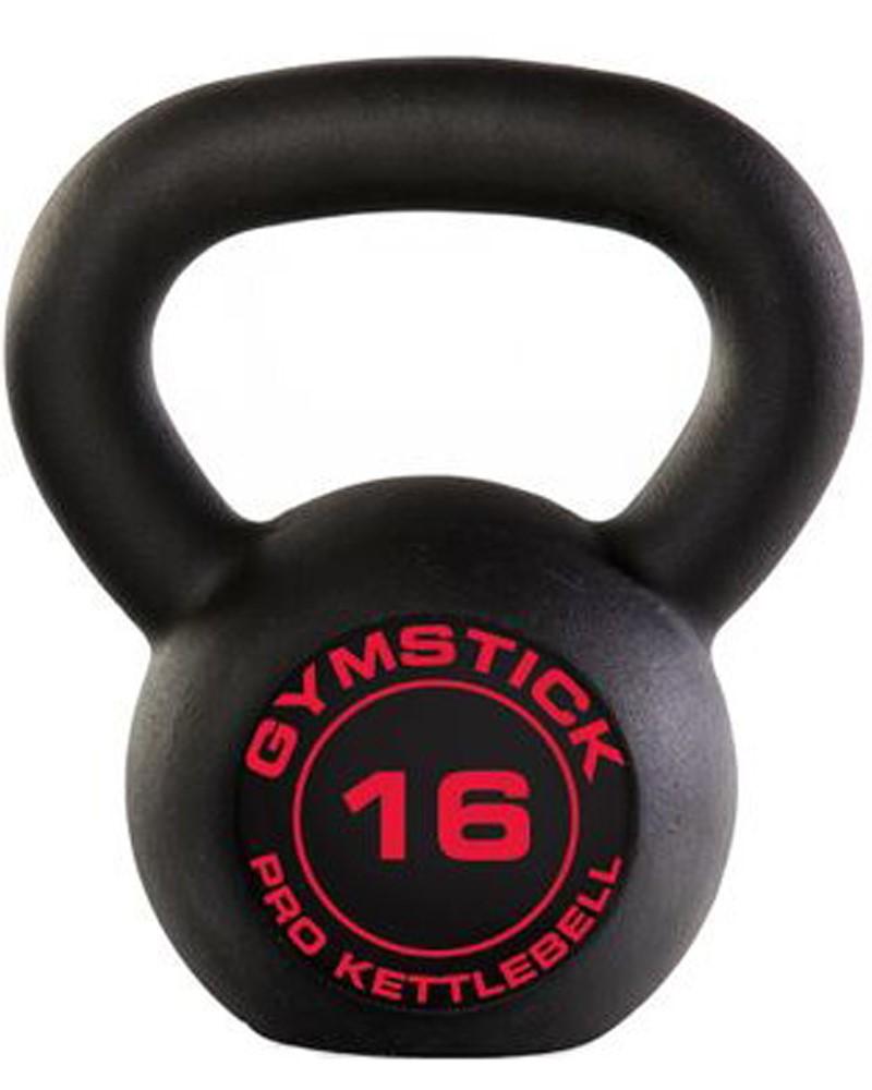 Gymstick Pro Kettlebell - Zwart - Met Online Trainingsvideo's - 16kg