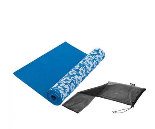 Tunturi Yogamat - Fitnessmat - 170 x 62 x 0,3 cm - Blauwe Print