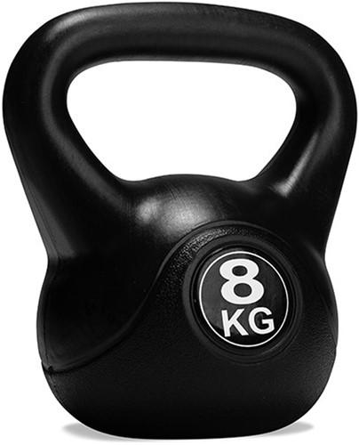 VirtuFit PVC Kettlebell - 8 kg - Zwart