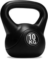 VirtuFit PVC Kettlebell - 10 kg - Zwart