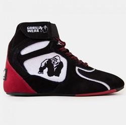 "Gorilla Wear Chicago High Tops - Black/White/Red ""Limited"""