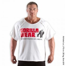 Gorilla Wear Classic Work Out Top White