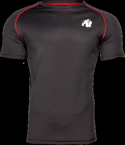 Gorilla Wear Performance T-Shirt - Zwart/Rood