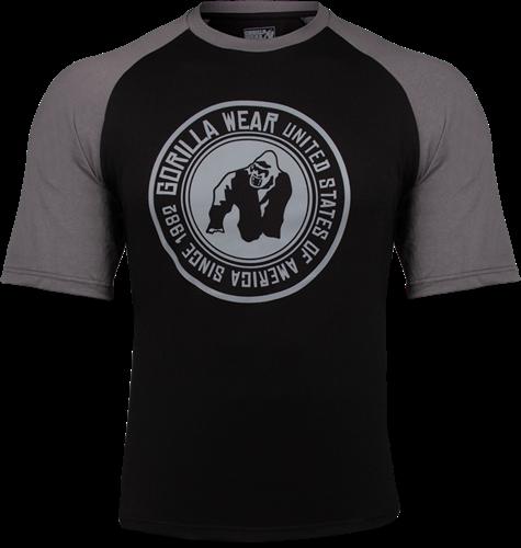 Gorilla Wear Texas T-shirt - Zwart/Donkergrijs