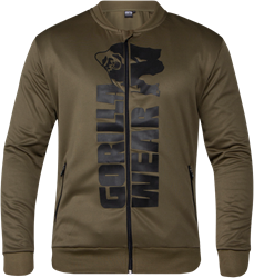 Gorilla Wear Ballinger Track Jacket - Army Green/Black