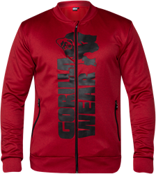 Gorilla Wear Ballinger Track Jacket - Red/Black