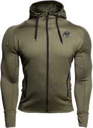 Gorilla Wear Bridgeport Zipped Hoodie - Army Green
